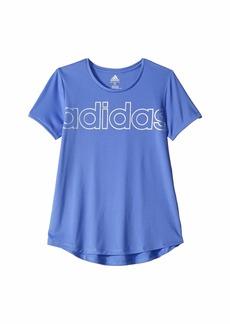 Adidas Poly Scoop Neck Tee (Big Kids)