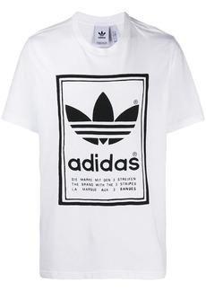 Adidas printed Trefoil logo T-shirt