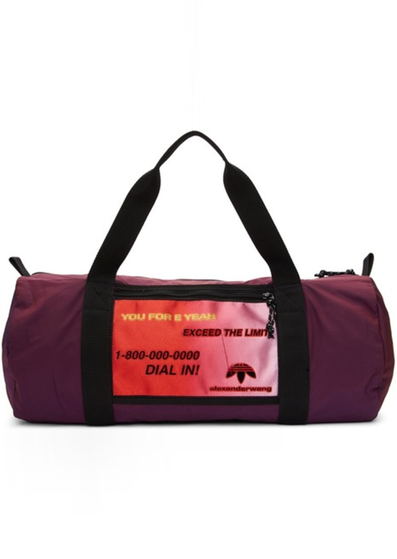 Adidas Purple Duffle Bag
