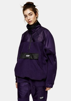 Purple High Neck Top By Adidas
