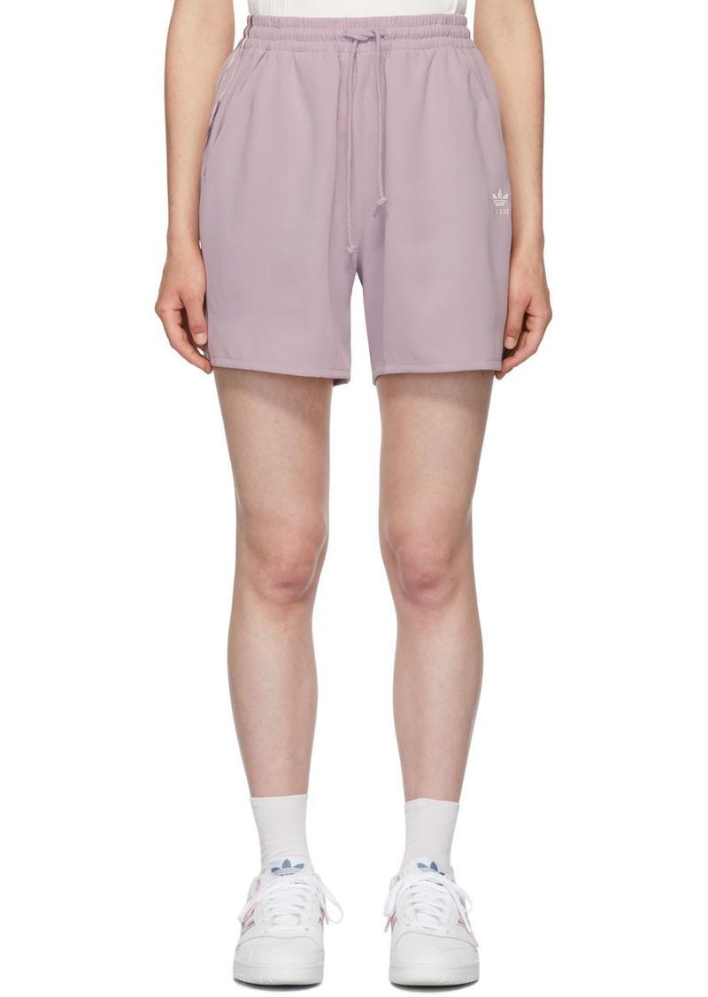 Adidas Purple Satin Shorts