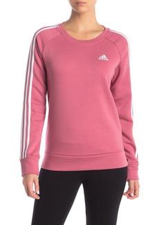 Adidas Racing Stripe Fleece Pullover Sweatshirt