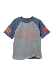 Adidas Raglan Outline Bos Tee (Toddler, Little Kid & Big Kid)