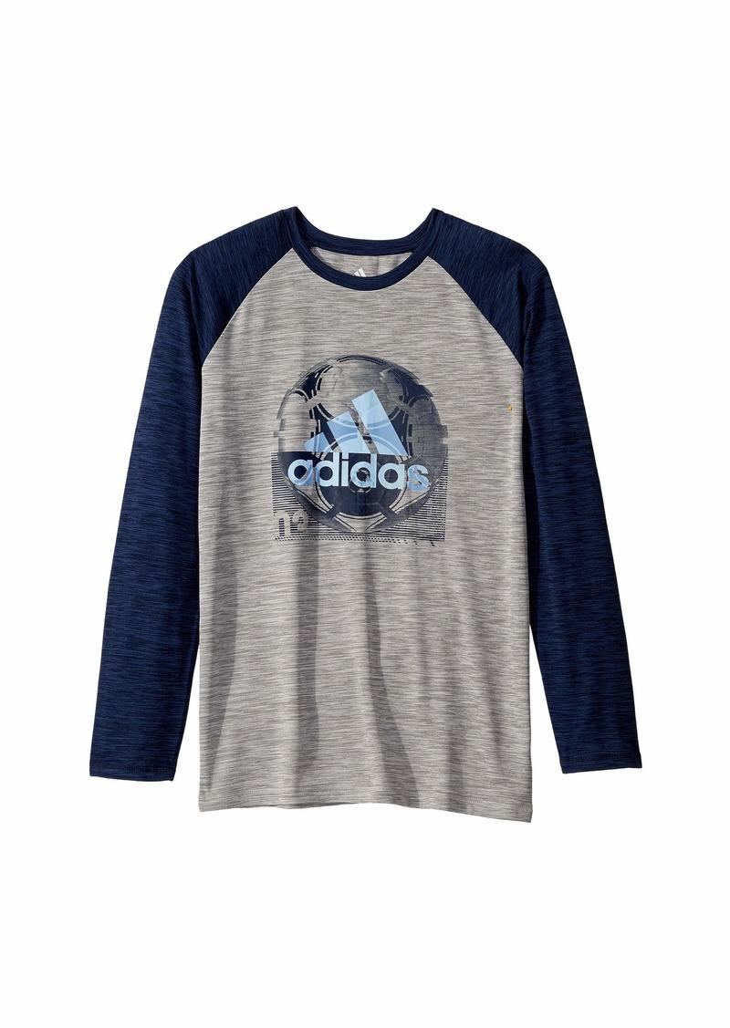 Adidas Raglan Sport Ball Tee (Big Kids)