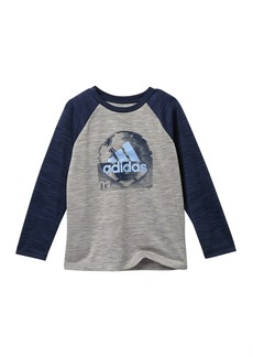 Adidas Raglan Sport Ball Tee (Toddler & Little Boys)