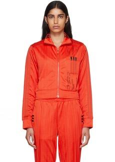 Adidas Red Crop Track Jacket