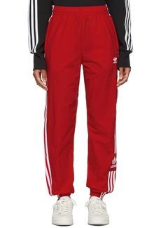 Adidas Red Lock Up Lounge Pants