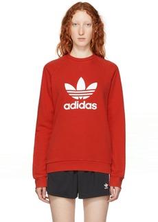 Adidas Red Warm-Up Sweatshirt