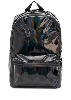 Adidas reflective wet look backpack