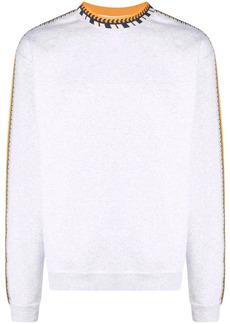 Adidas rib-detail long-sleeved jumper