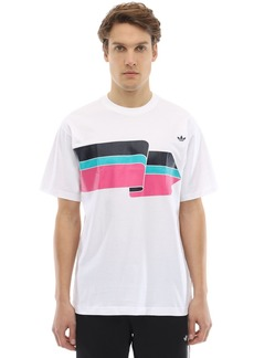 Adidas Ripple Printed Cotton Jersey T-shirt