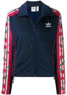 Adidas rose print zip jacket