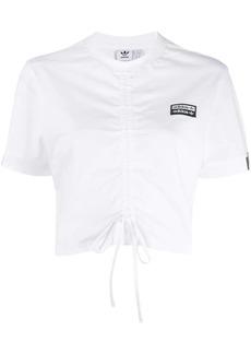 Adidas ruched drawstring T-shirt