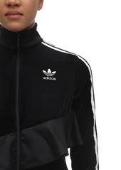 Adidas Ruffled Velvet Track Top