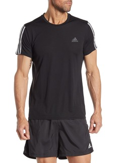Adidas Run 3-Stripes Climalite T-Shirt