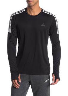 Adidas Running 3-Stripes Long Sleeve T-Shirt