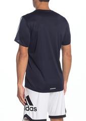 Adidas Running 3 Stripes T-Shirt
