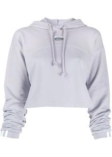 Adidas R.Y.V. cropped cotton hoodie