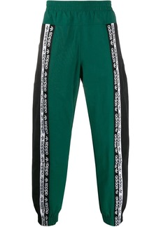 Adidas side logo colour block track pants