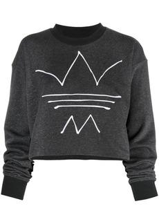 Adidas R.Y.V trefoil logo cropped sweatshirt