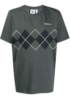 Adidas short sleeve argyle print T-shirt