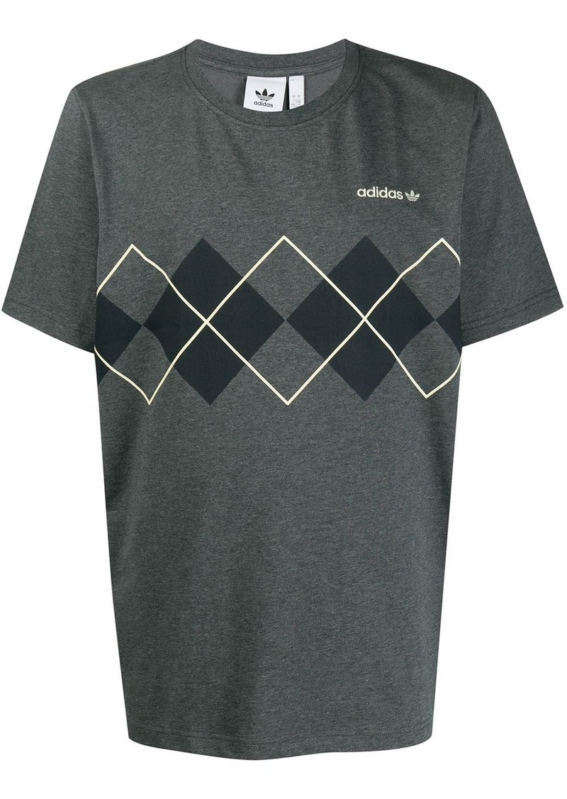 Adidas short sleeve argyle print T-shirt