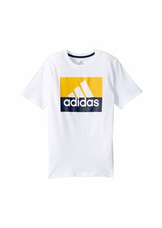 Adidas Short Sleeve Block Badge of Sport Tee (Big Kids)