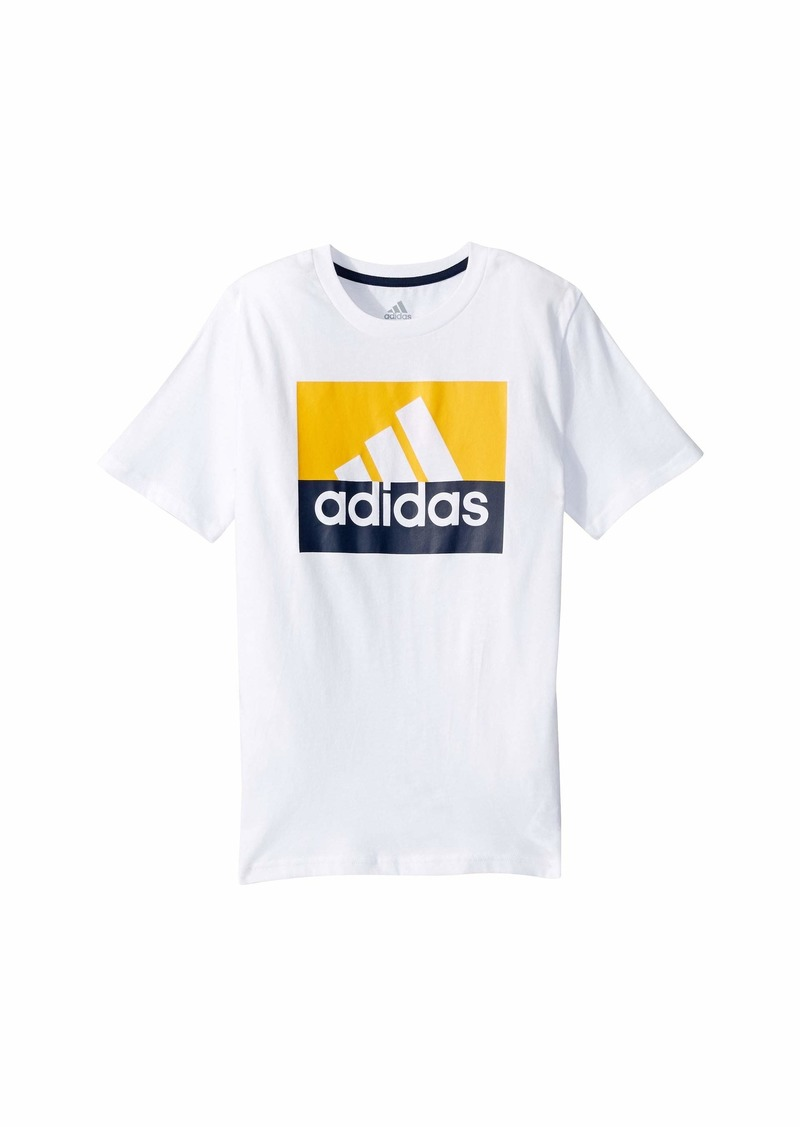 Adidas Short Sleeve Block Badge of Sport Tee (Big Kids)