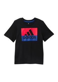 Adidas Short Sleeve Block BOS T-Shirt (Toddler & Little Kid)