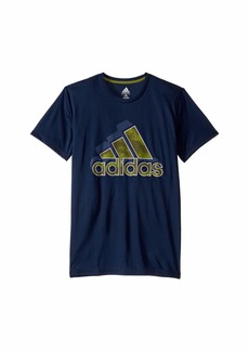 Adidas Short Sleeve Camo Badge of Sport Tee (Big Kids)