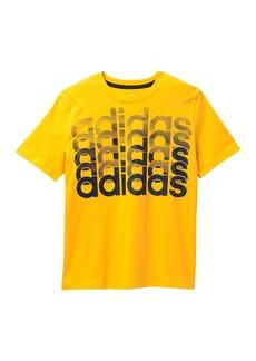 Adidas Short Sleeve Core Repeating T-Shirt (Big Boys)