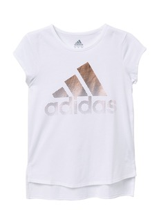 Adidas Short Sleeve Curved Hem Tee (Big Girls)