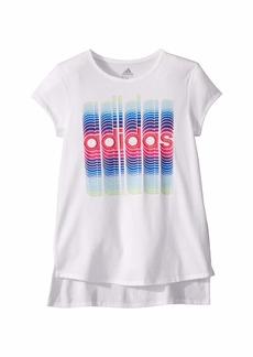 Adidas Short Sleeve Curved Hem Tee (Big Kids)