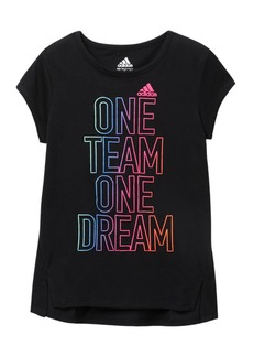 Adidas Short Sleeve Front Vented T-Shirt (Big Girls)