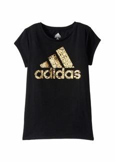 Adidas Short Sleeve Linear Thank You Tee (Big Kids)