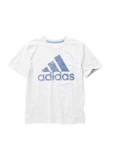 Adidas Short Sleeve Logo Print Tee (Big Boys)