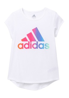 Adidas Short Sleeve Rainbow Gradient T-Shirt (Big Girls)