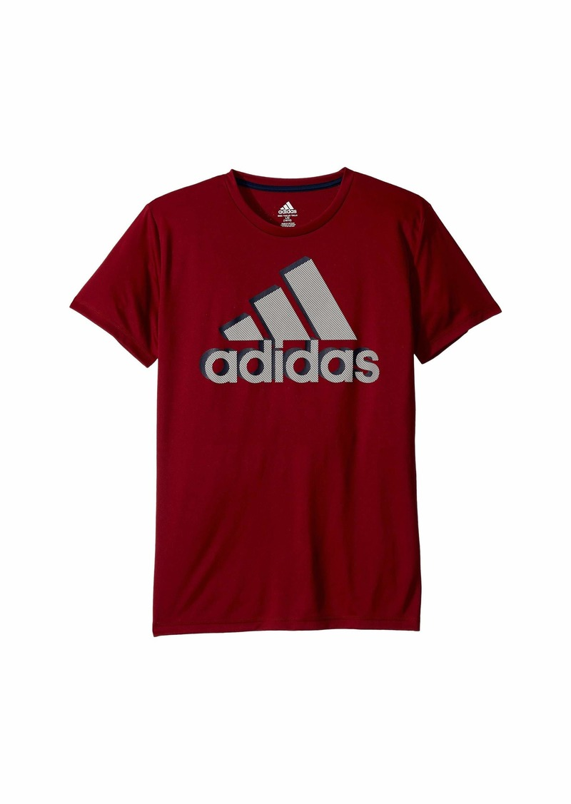 Adidas Short Sleeve Shadow Badge of Sport Tee (Big Kids)