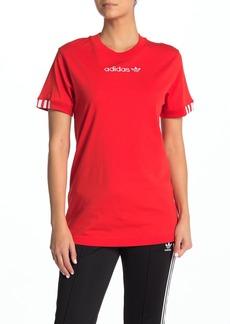Adidas Short Sleeve Striped Cuff T-Shirt