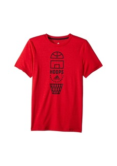 Adidas Short Sleeve Vertical Collage Tee (Big Kids)