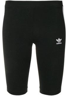 Adidas side stripe cycling shorts