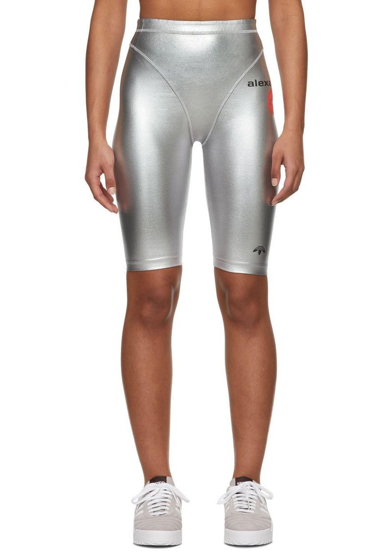 Adidas Silver Metallic Bike Shorts