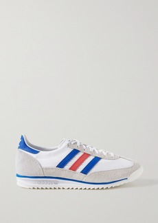 Adidas Sl 72 Suede And Leather-trimmed Shell Sneakers