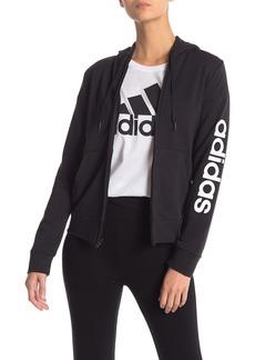 Adidas Solid Zip Front Hoodie