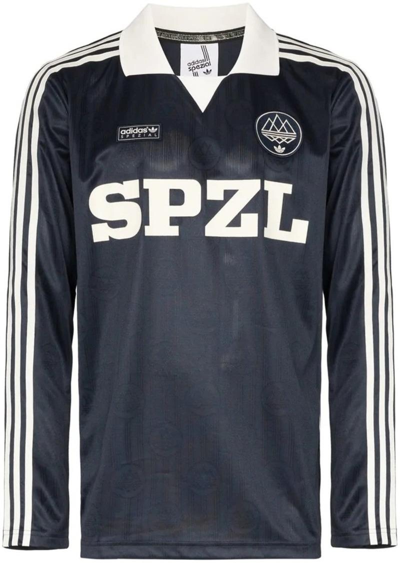 Adidas Spezial Lymwood striped polo shirt
