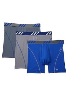 Adidas Sport Performance Mesh Boxer Brief Underwear 3-Pack