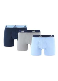 Adidas Stretch Cotton Boxer Brief - 3-Piece Set