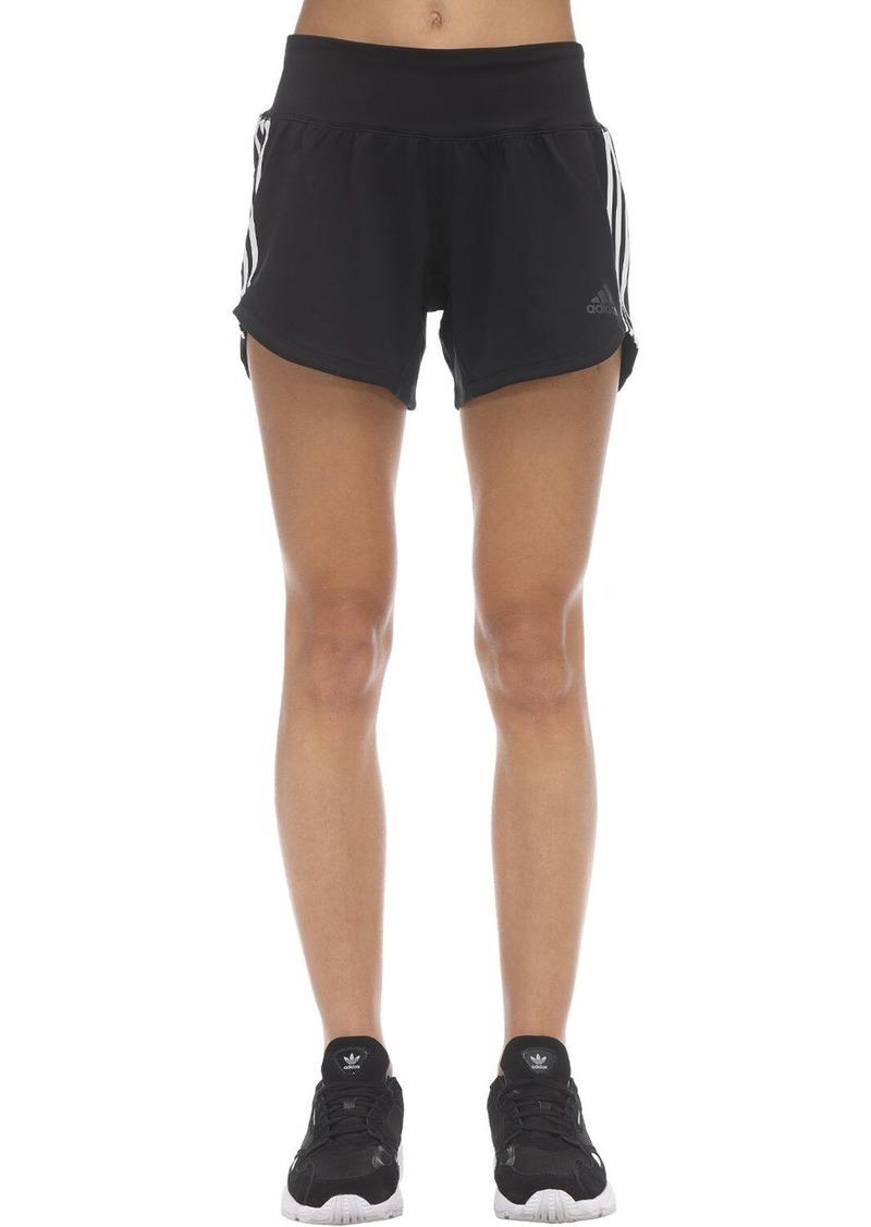 Adidas Stretch Nylon 3 Stripe Gym Shorts