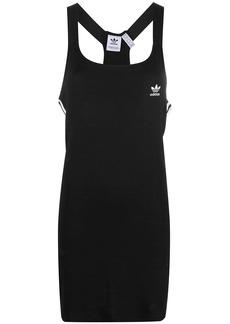 Adidas stripe-detail sleeveless dress