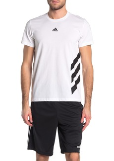 Adidas Stripe Logo Graphic T-Shirt
